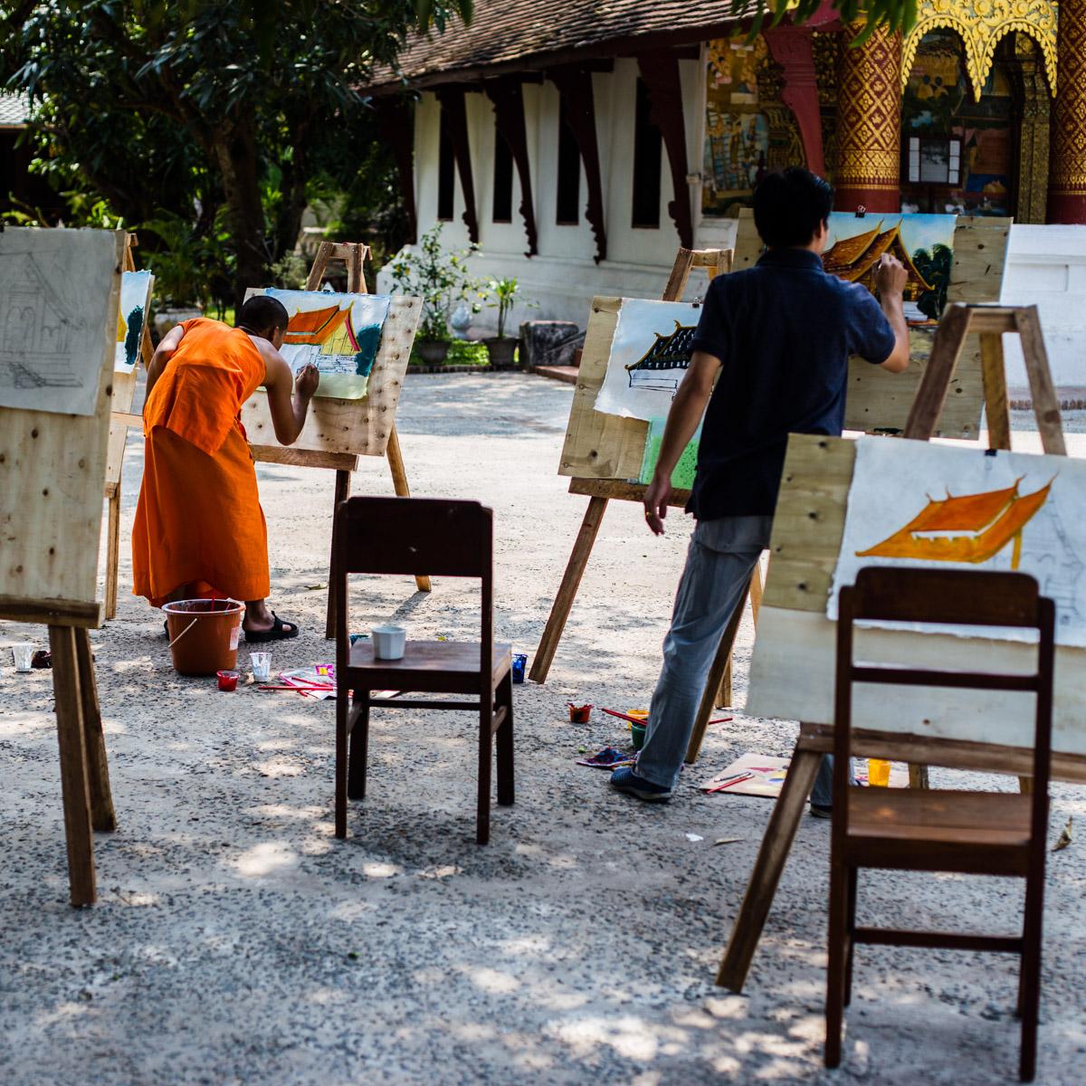 Монахи уроки рисования, Луанг Прабанг