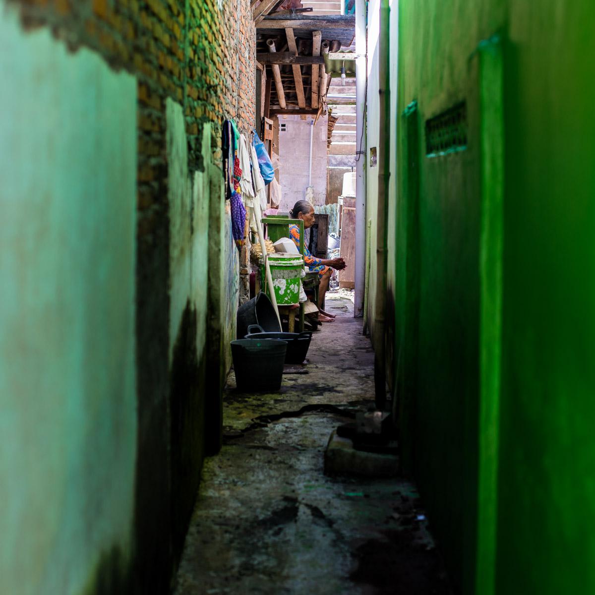Petite ruelle à Yogyakarta