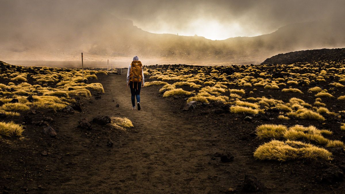 В старом кратере, Национальный парк Тонгариро