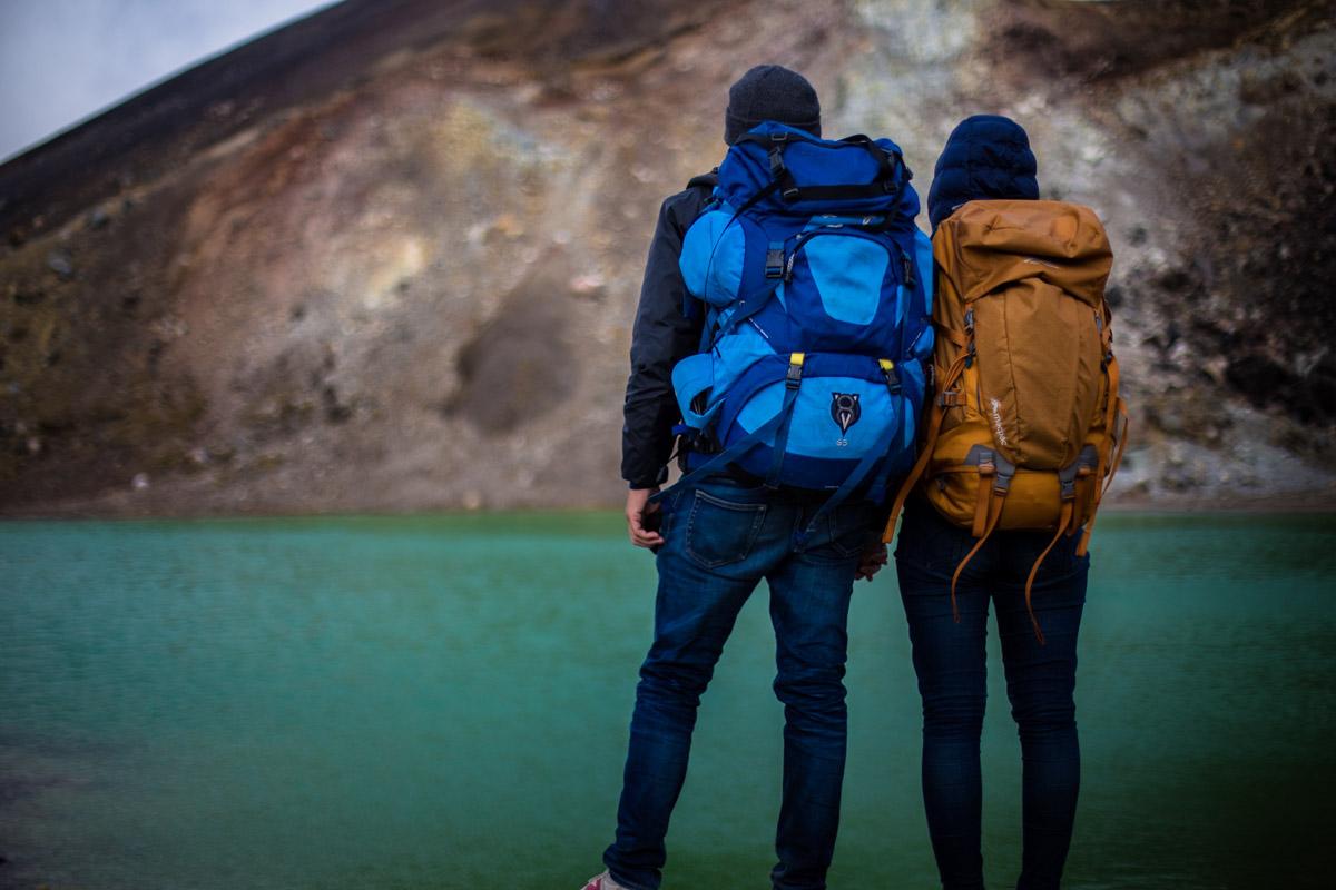 А вот и рюкзаки! Национальный парк Тонгариро