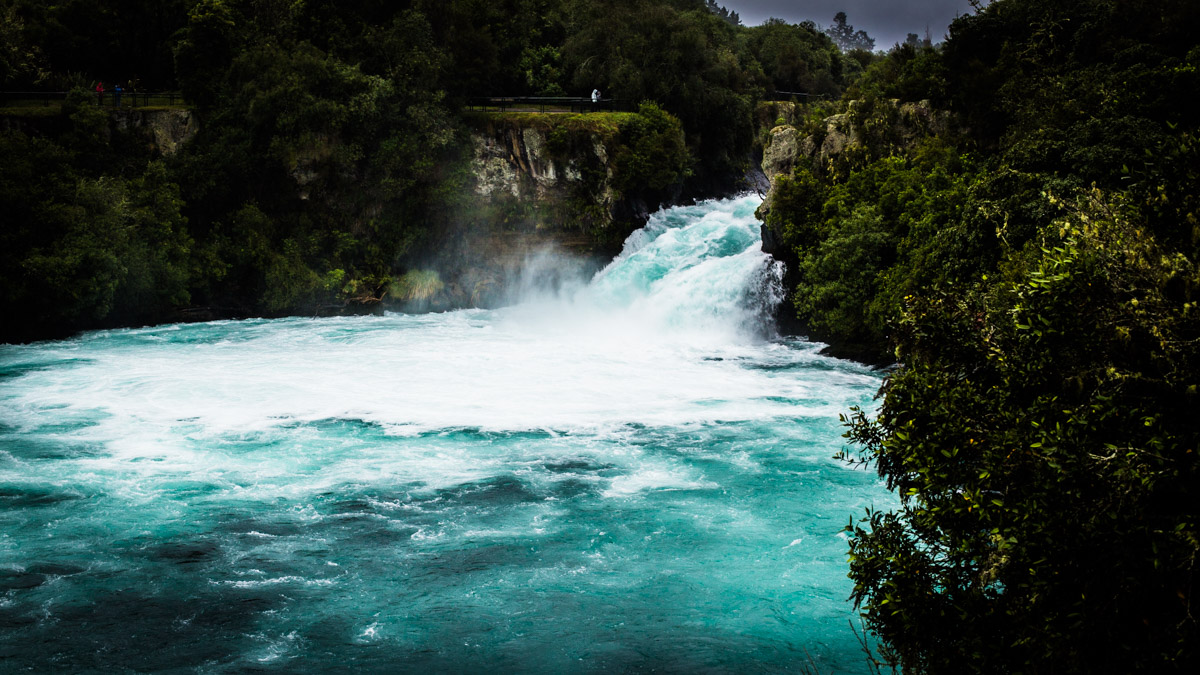 Водопады Хука, Топо