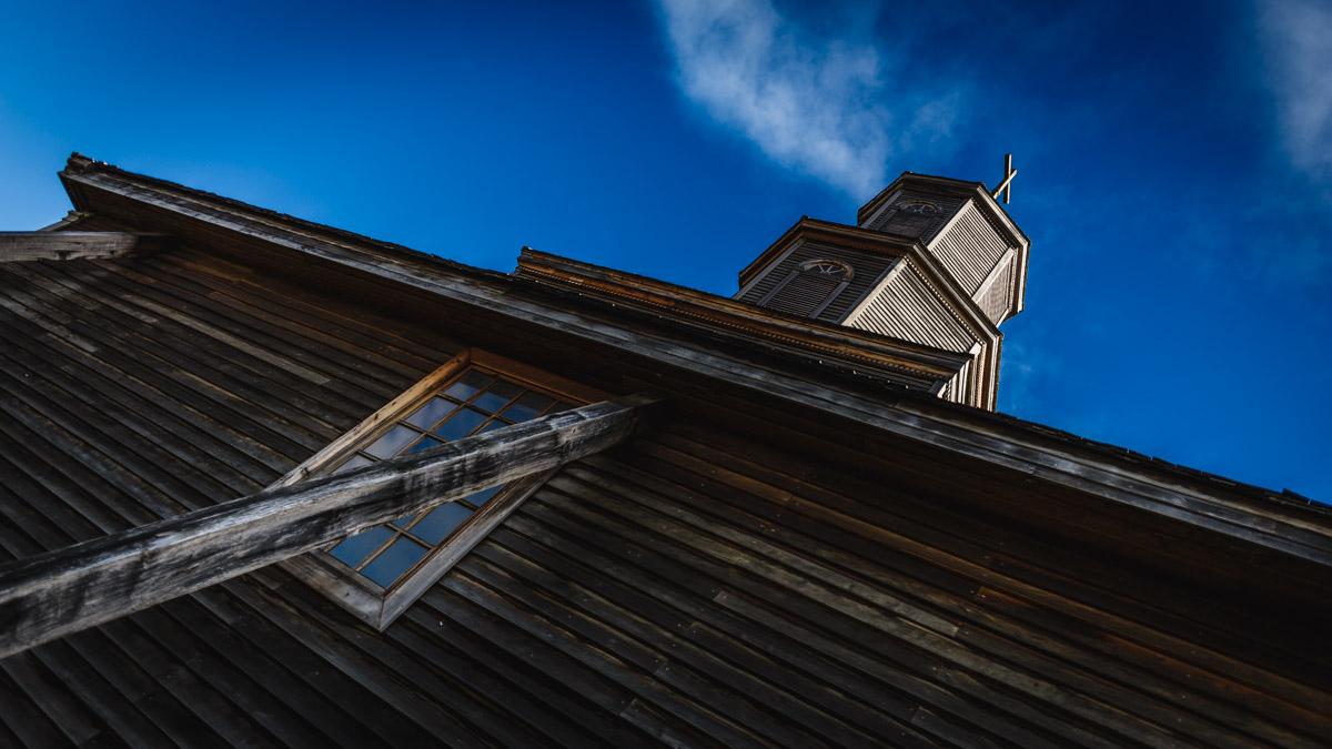 Une église en bois, l'île de Chiloé