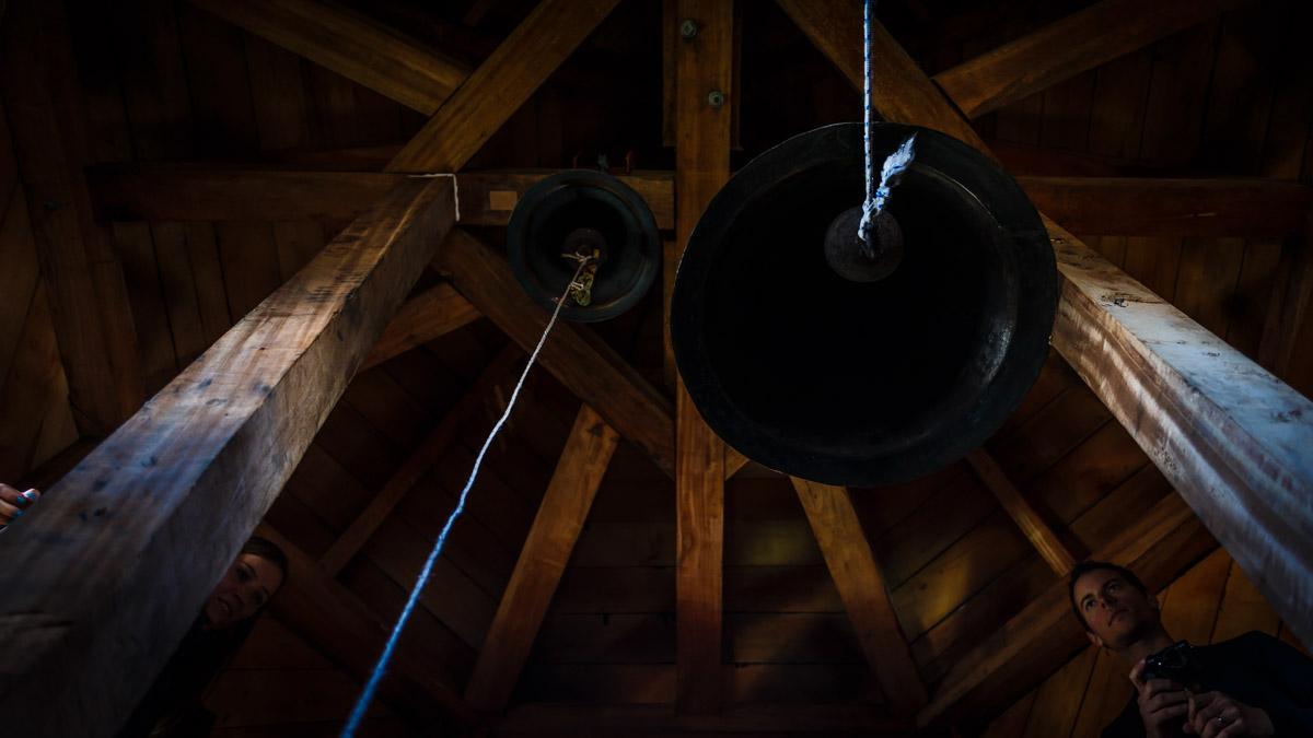 Au clocher, l'île de Chiloé