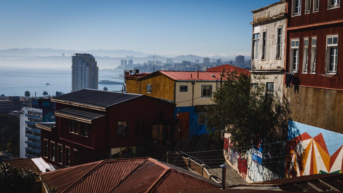 Vue sur la baie, Valparaíso
