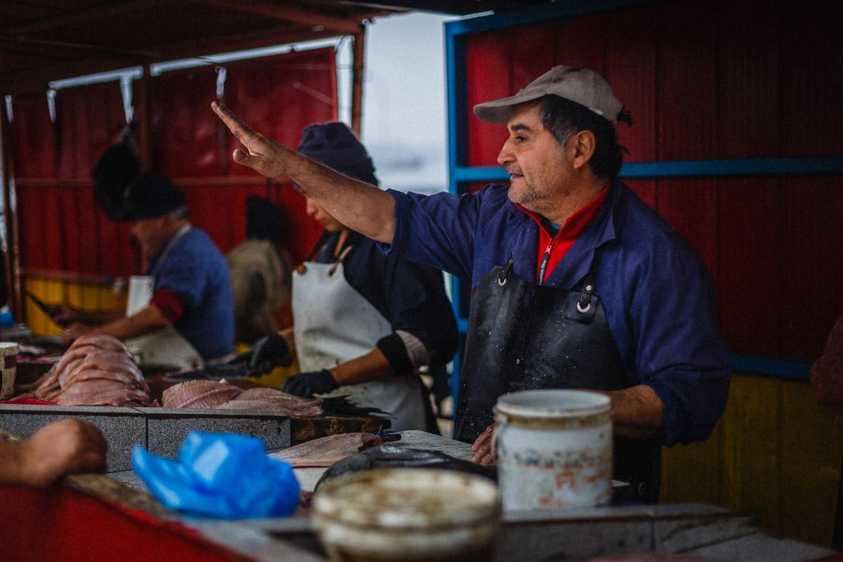 Au marché aux poissons, Valparaíso