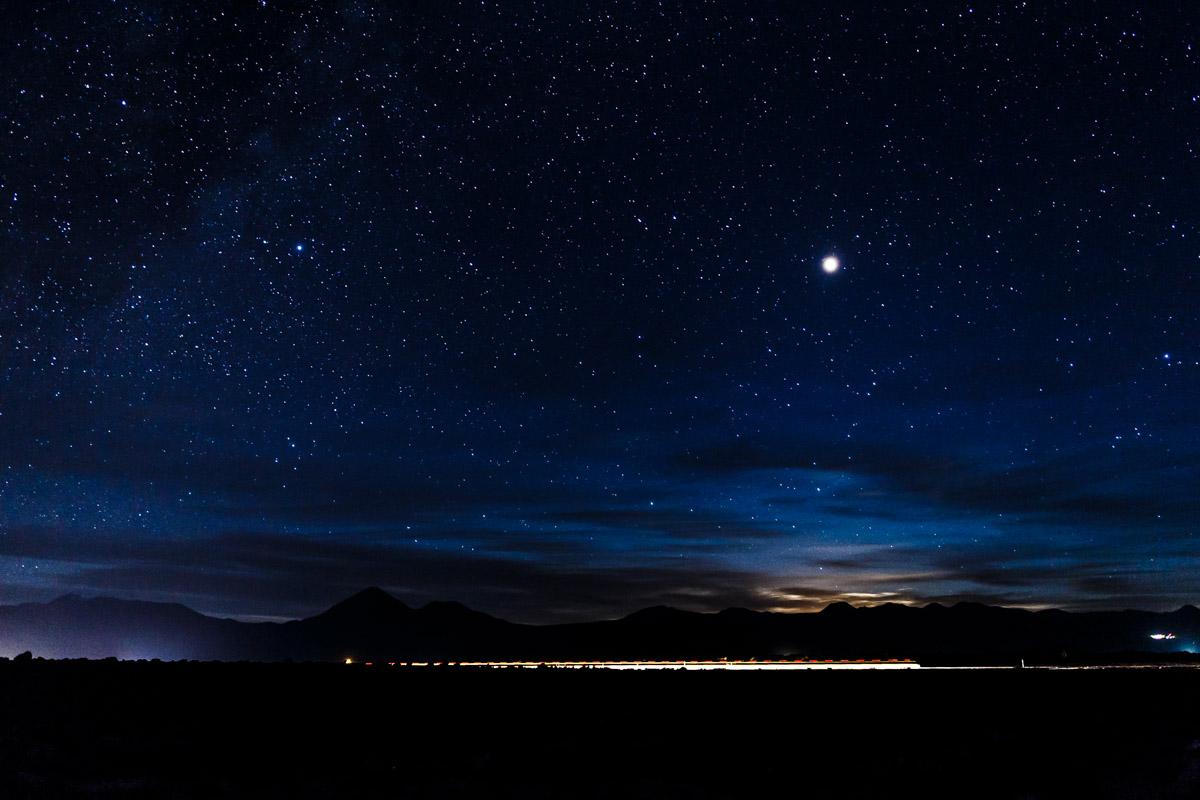 Bivouac sous les étoiles, désert d'Atacama
