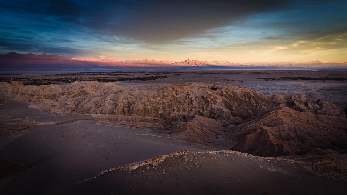 Couchée du soleil au-dessus du désert, San Pedro de Atacama