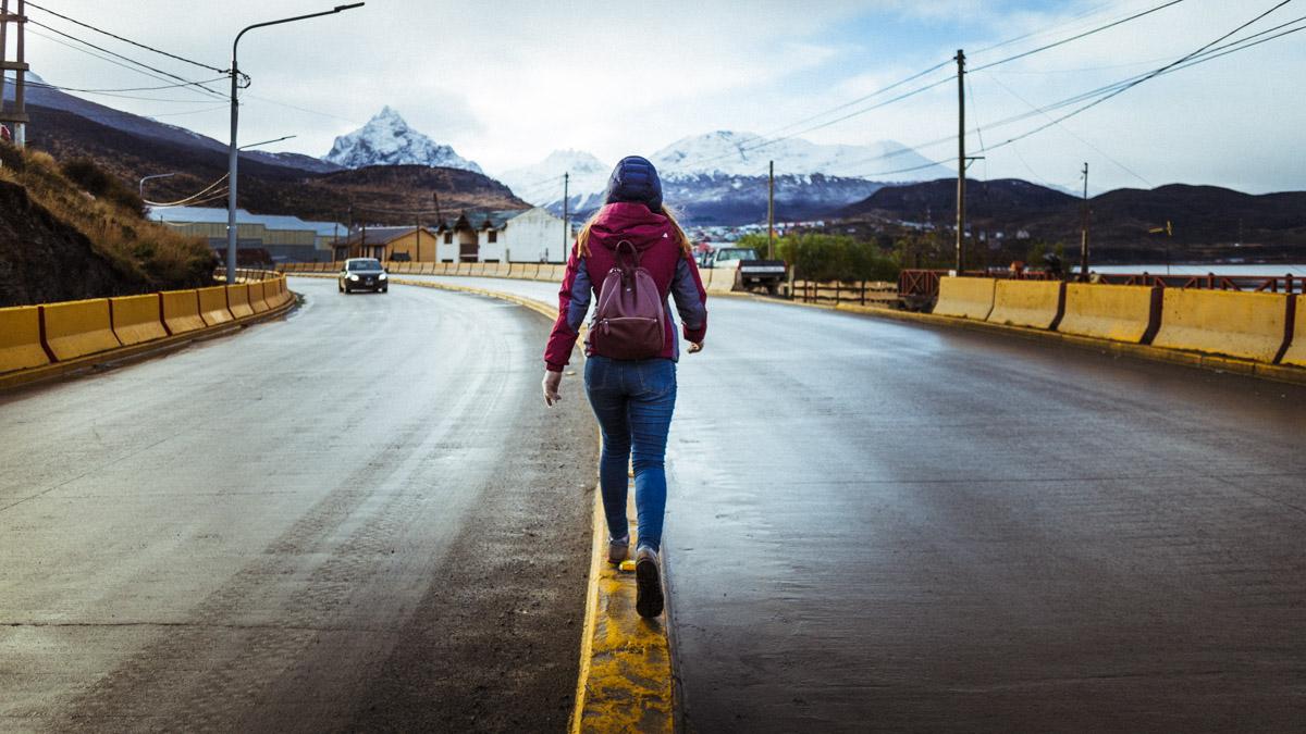 Прогулка на выезде из города Ушуайя, Аргентина