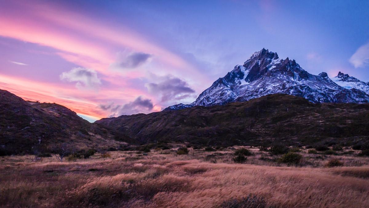 """Трек """"W"""" в нац. парке Торрес дель Пайне, Чили"""
