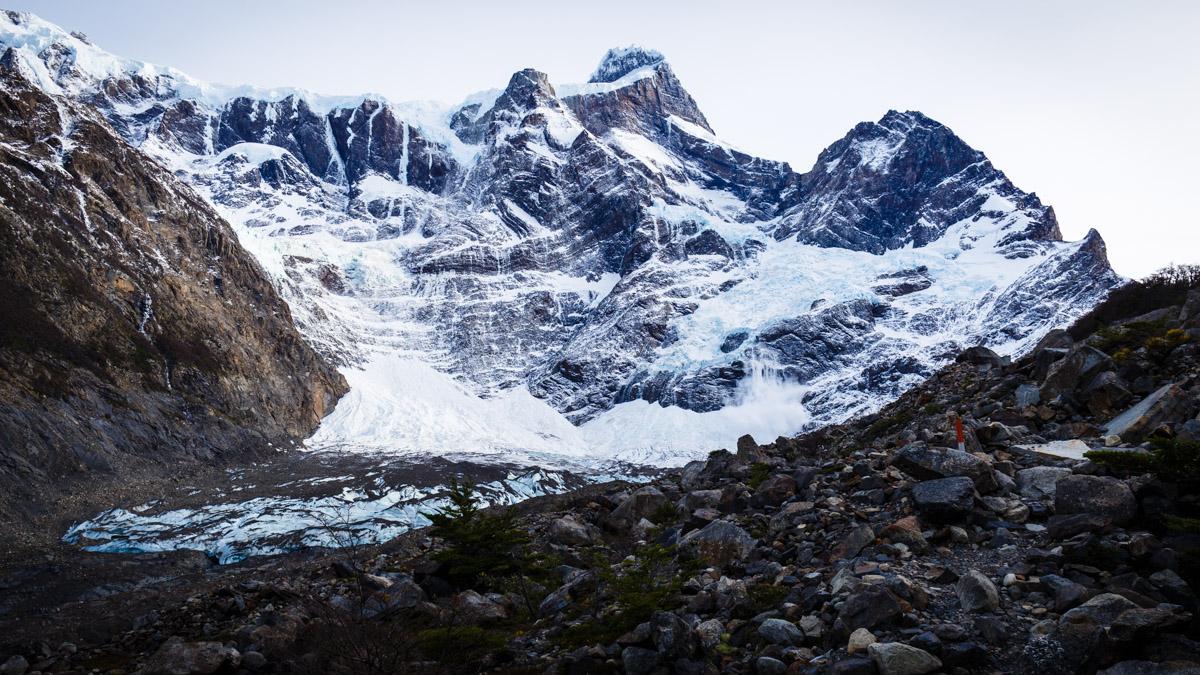 """""""Французский"""" ледник в нац. парке Торрес дель Пайне, Чили"""