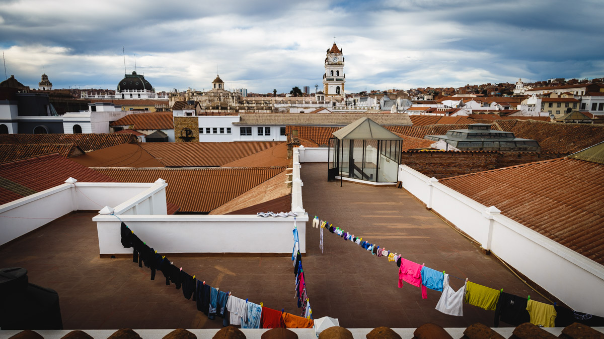 Sur le toit du monastère San Felipe de Neri, Sucre