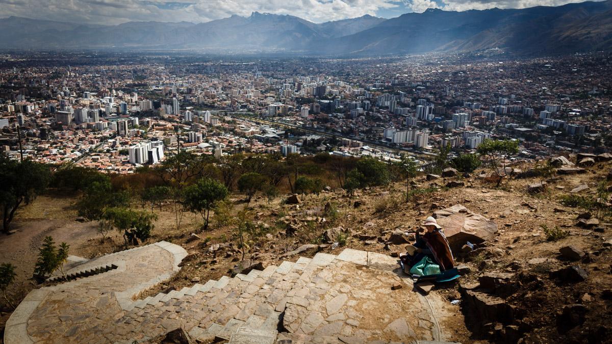 Vue sur la ville Cochabamba