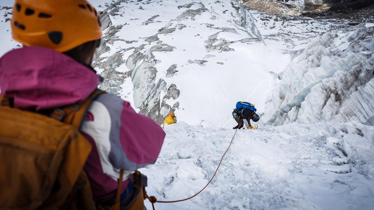 Initiation d'alpinisme pour ascension de Huayna Potosi