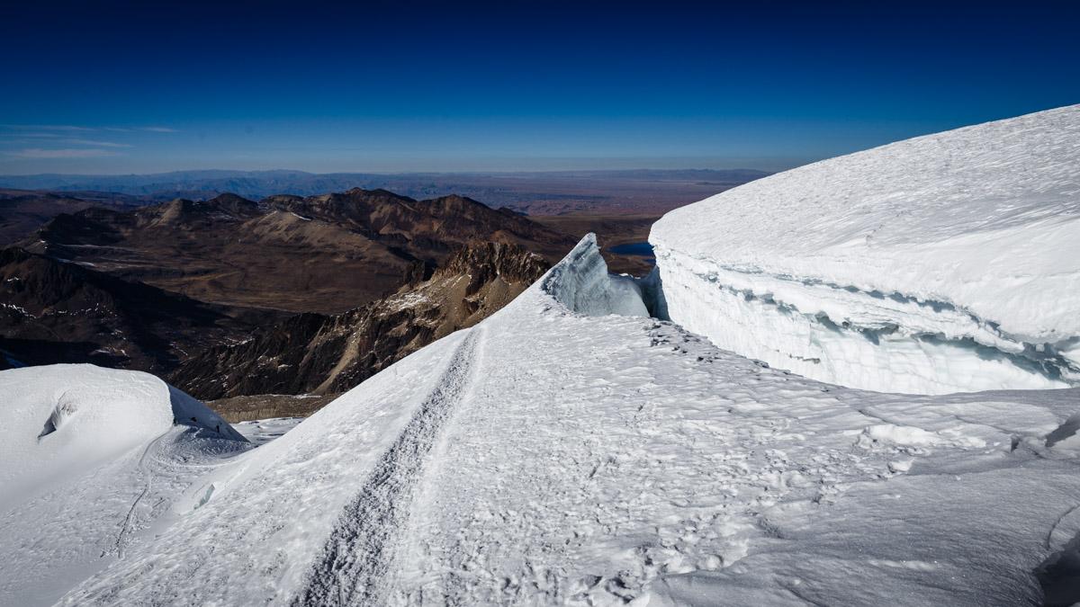 Un glacier sur le chemin, Huayna Potosi