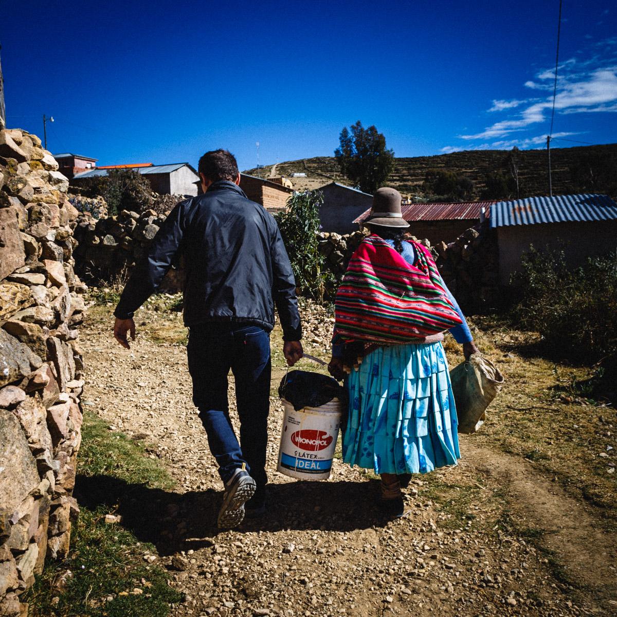 Quand tu sais pas ce que tu portes mais que ça pue... Isla del Sol, Lac Titicaca