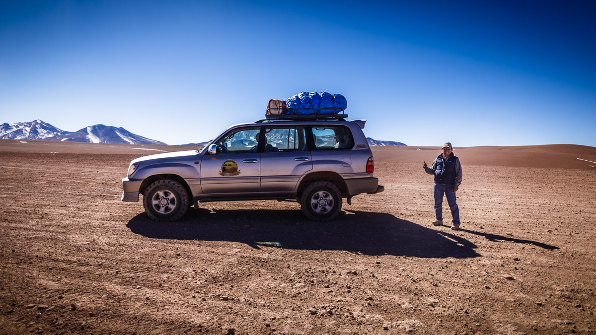 Notre chauffeur du 4x4, désert d'Atacama