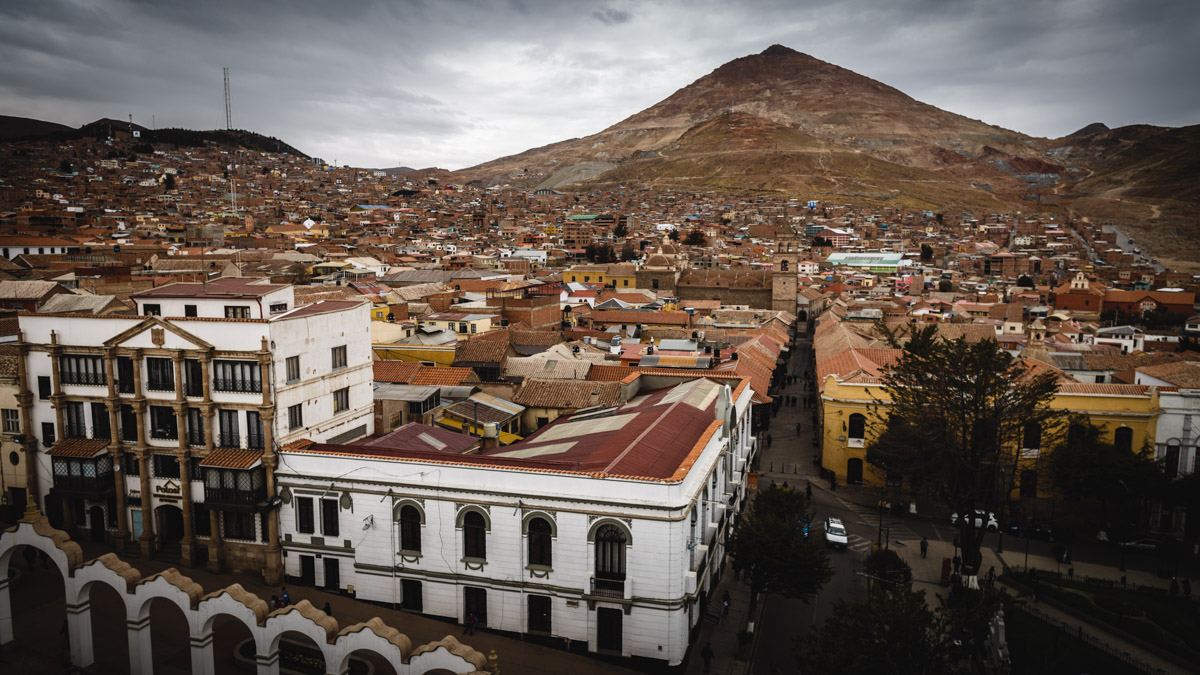 Ville de Potosi et sa montagne Cerro Rico