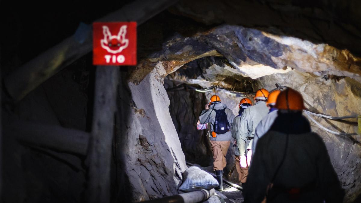 Dans la mine, le chemin vers Tio (diable), Potosi