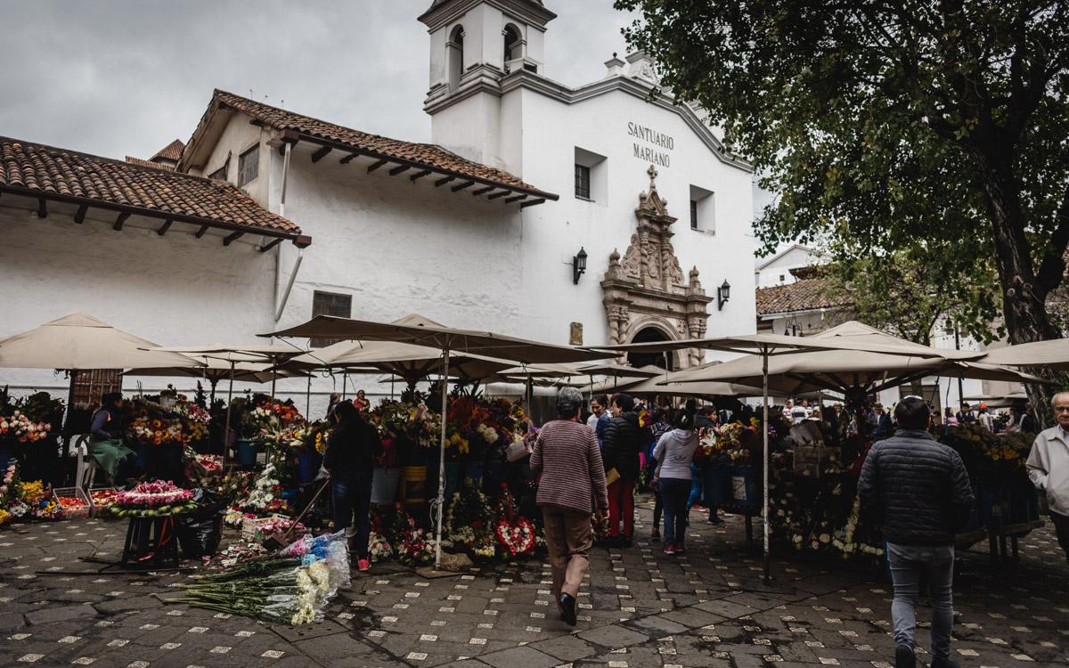 Marché aux fleurs, Cuenca