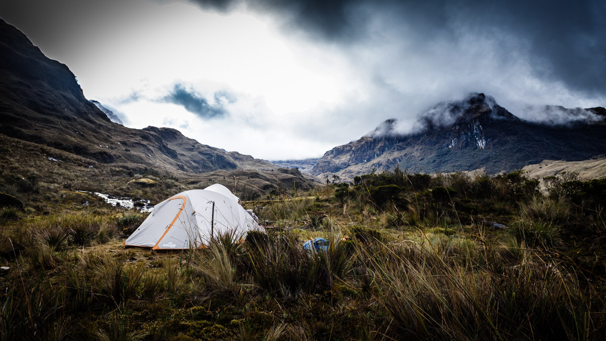 Camping dans le parc Cajas, Cuenca