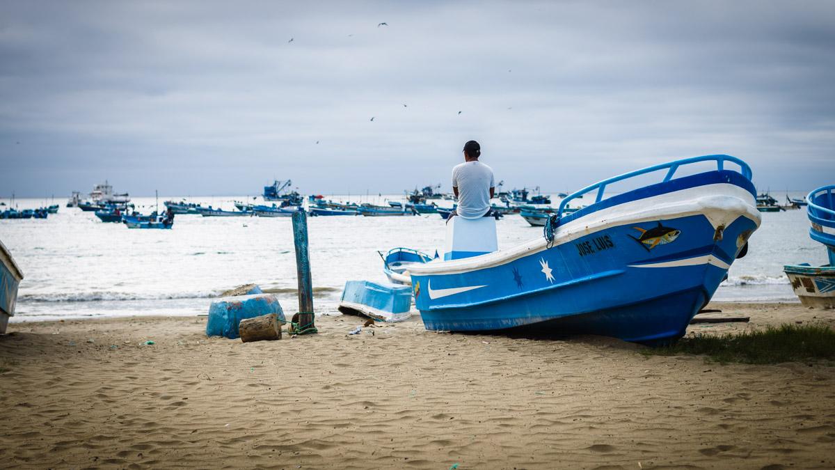 Au port, Puerto Lopez