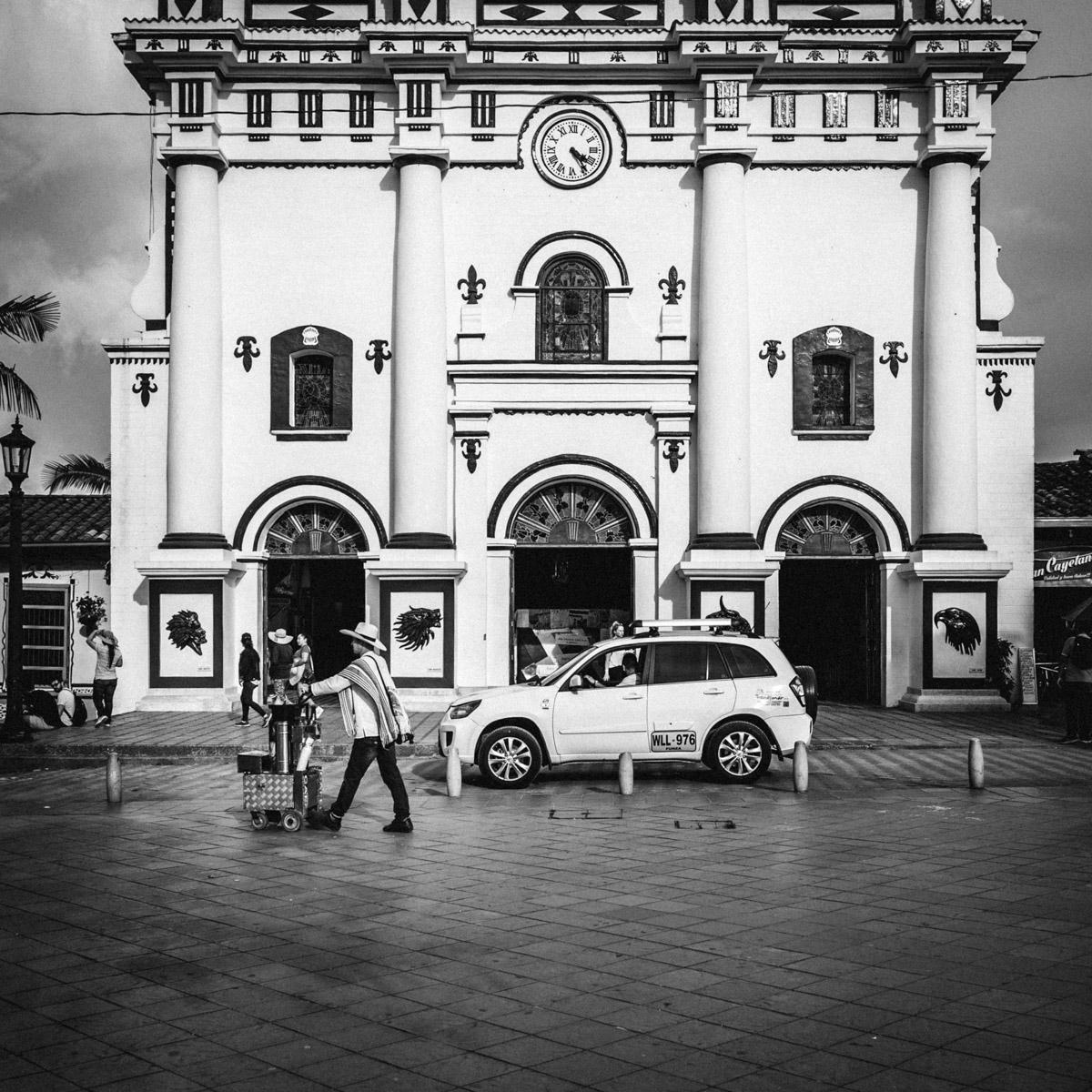 На главной площади, Гуатапе