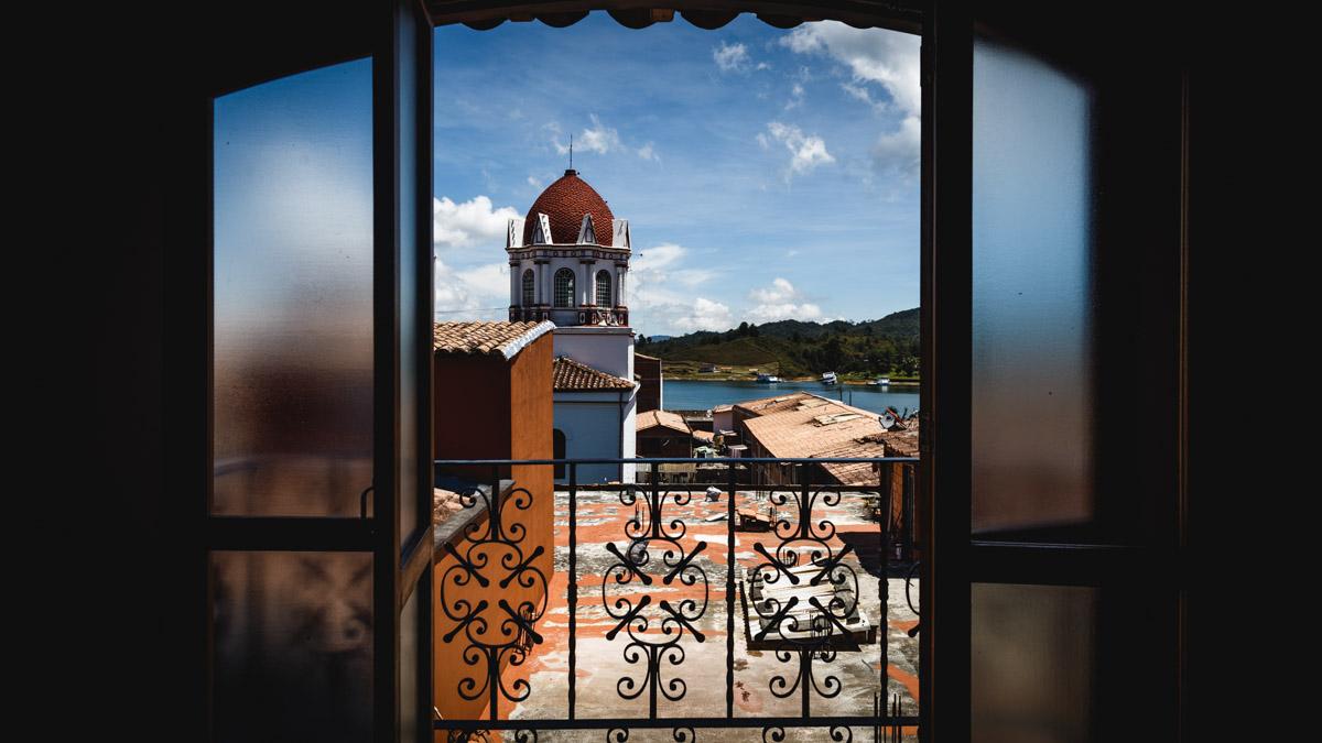 Красивый вид из отеля, Гуатапе