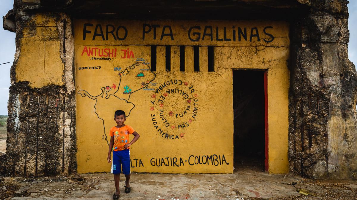 Маяк мыса Пунта Гальинас, самая северная точка Южной Америки